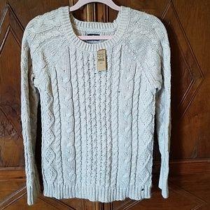 NWT American Eagle Blush Metallic Sweater